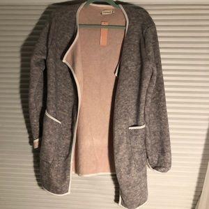 Sweaters - Pink & Grey Cardigan (Runs Small)